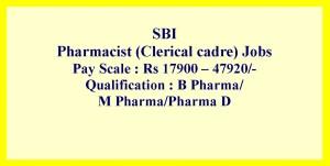 Pharmacist job opportunities for D Pharma