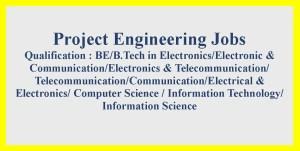 Project Engineer job opportunities in BEL 2021