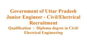 2021 Civil and Electrical Junior Engineer Job opportunities in Uttar Pradesh