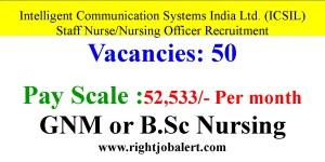 52533 Monthly Salary Staff Nurse Nursing Officer jobs