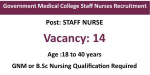 14 Staff Nurse Vacancies under Government
