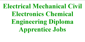 Electrical Mechanical Civil Electronics Chemical Engineering Diploma Apprentice Jobs