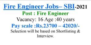 Fire Engineer Jobs- Apply Online