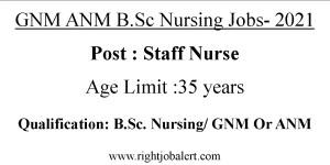 GNM ANM B.Sc Nursing Jobs