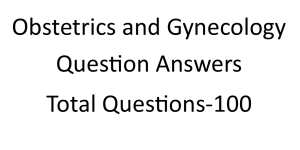 Obstetrics and Gynecology Question Answers