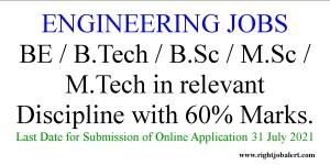 BE BTech BSc MSc MTech in relevant Discipline Jobs