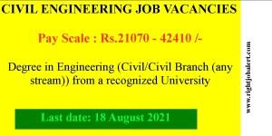 Deputy Civil Engineer Jobs 21070-42410 Pay Scale