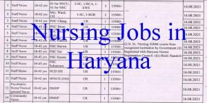 15 GNM B.Sc Nursing Staff Nurse Vacancies in Haryana