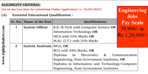 B.E./B.Tech/MCA/BCA/Diploma Engineering Jobs in High Court
