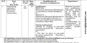NCRTC Electrical Engineers Recruitment