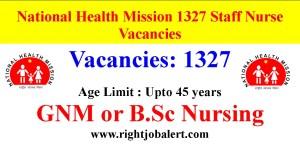 NHM Maharashtra 1327 Staff Nurse Vacancies