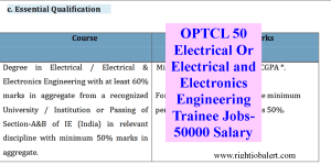 OPTCL 50 Electrical Or Electrical and Electronics Engineering Trainee Jobs- 50000 Salary