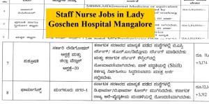 Staff Nurse Vacancies in Lady Goschen Hospital Mangalore