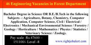 46 Engineering Vacancies in Forest Department