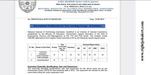 Engineering Vacancies in NITK Mangalore