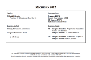 Michigan 2012 Delegate Rules Summary per the RNC