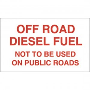 off road diesel sign