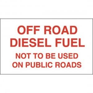 off road diesel sign