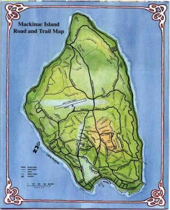 Mackinac Island Road and Trail Map 2
