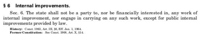 Michigan Constitution of 1963 Article III Section 6