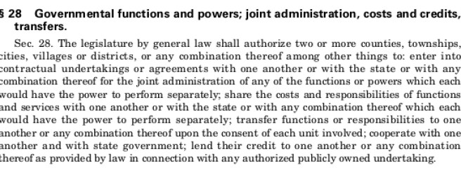 Michigan Constitution of 1963 Article VII Section 28