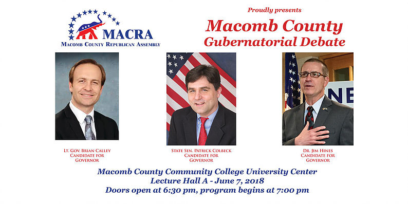 Macomb County Gubernatorial Debate – June 7, 2018 | Right