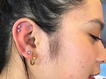 double cartilage piercing pain
