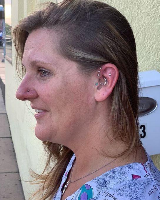 triple forward helix piercing price