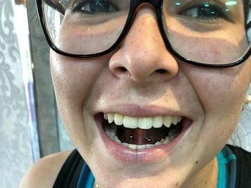 under tongue piercing pain