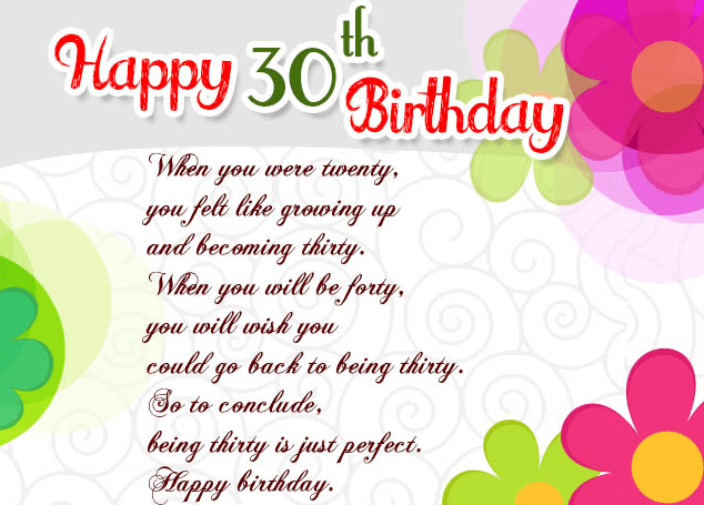 Birthday Daughter 30th Wishes