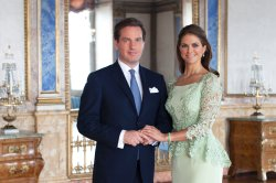 HRH Princess Madeleine and Mr Christopher O'Neill. Photo: Brigitte Grenfeldt, Royal Court, Sweden.