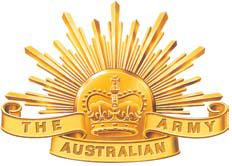 """The """"Rising Sun"""", emblem of the Australian Army, used since 1991."""