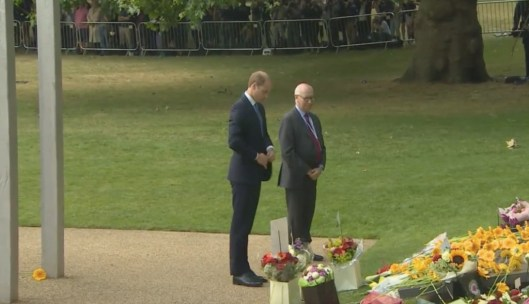 Prince William lays flowers at the 7/7 Memorial Service in Hyde Park.