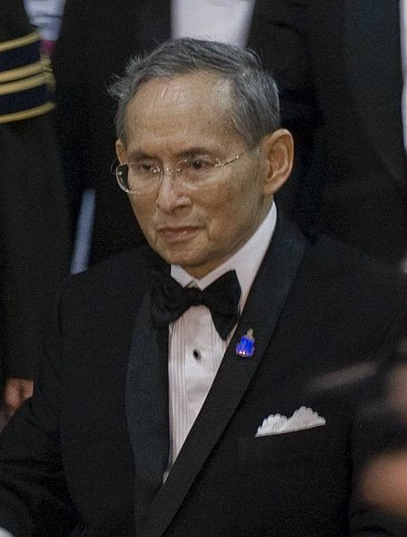 Thailand's King Bhumibol Adulyadej attends a concert at Siriraj hospital in Bangkok on 29 September 2010.