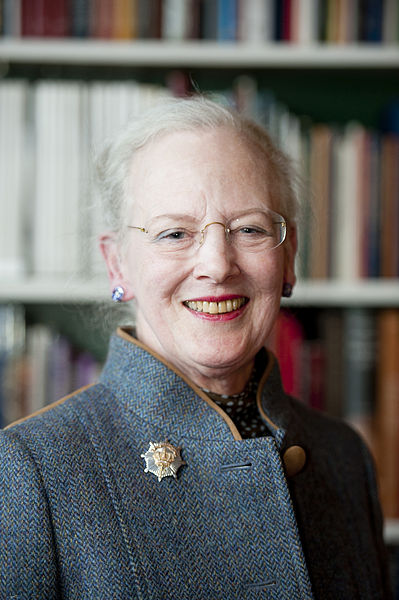 Queen Margrethe II of Denmark, 2012 Johannes Jansson/norden.org [CC BY 2.5 dk (http://creativecommons.org/licenses/by/2.5/dk/deed.en)], via Wikimedia Commons