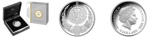 Longest-reigning monarch $5 Silver Coin. Photo: © Royal Australian Mint
