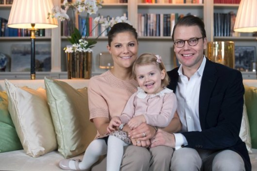 The Crown Princess Couple and Princess Estelle. Photo Kate Gabor royalcourt.se