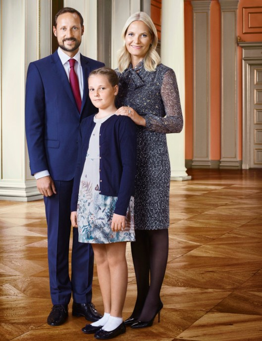 The Crown Prince and Crown Princess with Princess Ingrid Alexandra. Photo: Jørgen Gomnæs, the Royal Court
