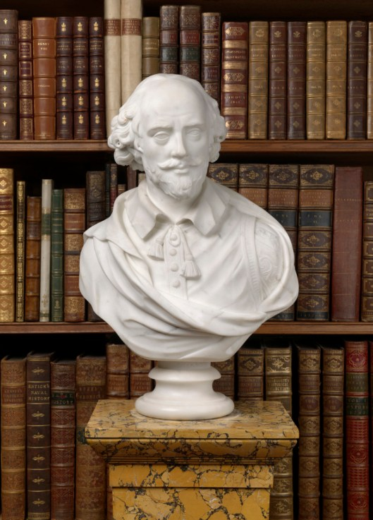Attributed to John Cheere, a marble bust of William Shakespeare, late 18th century. Royal Collection Trust / (C) Her Majesty Queen Elizabeth II 2015.