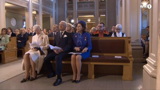 Queen Margrethe II of Denmark, King Carl XVI Gustaf and Queen Silvia of Sweden.