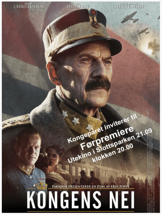"""Movie poster for """"Kongens Nei (The King's Choice)."""