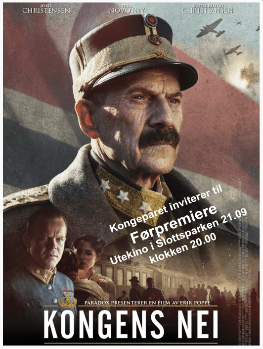"Movie poster for ""Kongens Nei (The King's Choice)."