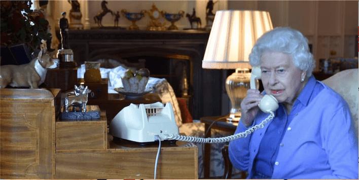 Queen Elizabeth II telephone Windsor Castle