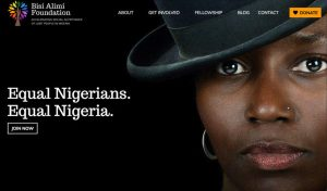 Home page of the Bisi Alimi Foundation