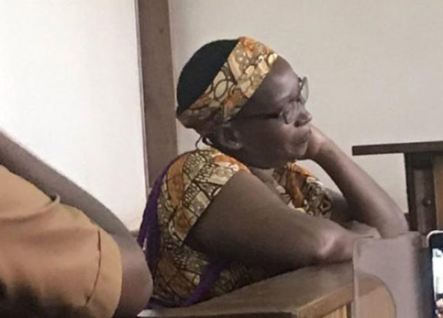 Stella Nyanzi in court on March 20, 2019. (Keem Love Black photo courtesy of RFI)