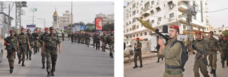 Military display held in the streets of Gaza City by the national security network via Hamas forum website December 20 2012