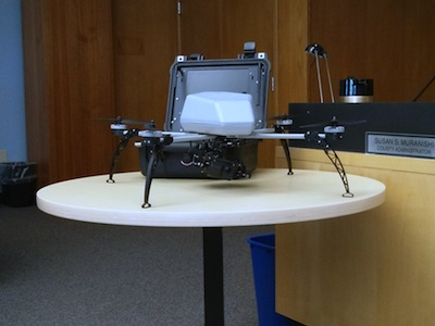 A sample of the drone model the Sheriff hopes to purchase