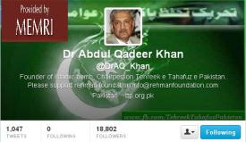 Dr. Khan Tweets Terror