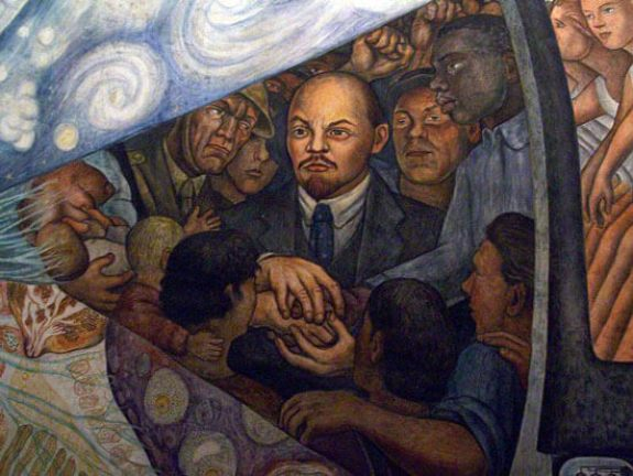 Detail of Lenin  Man Controller of the Universe Diego Riviera 1934