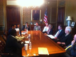 Sheik Abdullah Bin Bayyah Photo June 13 White House Meeting